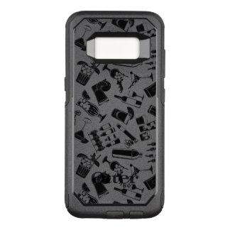 Black Pattern Cocktail Bar OtterBox Commuter Samsung Galaxy S8 Case