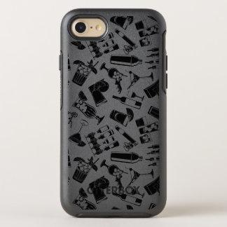 Black Pattern Cocktail Bar OtterBox Symmetry iPhone 7 Case
