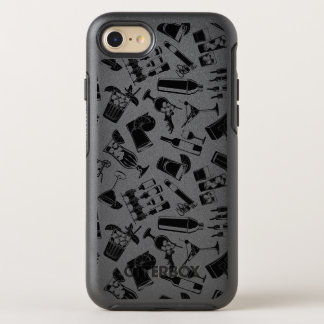 Black Pattern Cocktail Bar OtterBox Symmetry iPhone 8/7 Case