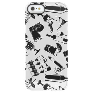 Black Pattern Cocktail Bar Permafrost® iPhone SE/5/5s Case