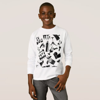 Black Pattern Cocktail Bar T-Shirt