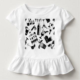 Black Pattern Cocktail Bar Toddler T-shirt