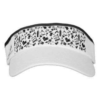 Black Pattern Cocktail Bar Visor
