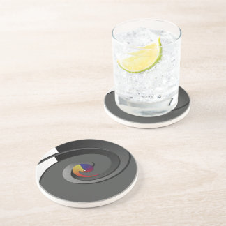 Black Pattern, Drinking Coaster - 4 Box Swirl