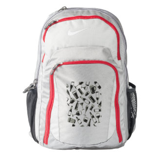 Black Pattern Drinks and Glasses Backpack