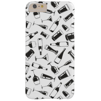 Black Pattern Drinks and Glasses Barely There iPhone 6 Plus Case