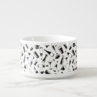 Black Pattern Drinks and Glasses Bowl