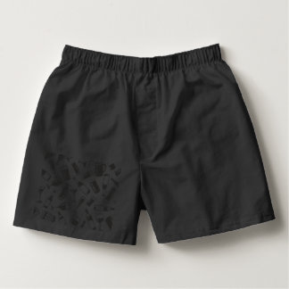 Black Pattern Drinks and Glasses Boxers