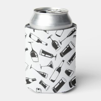 Black Pattern Drinks and Glasses Can Cooler