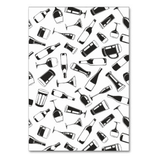 Black Pattern Drinks and Glasses Card