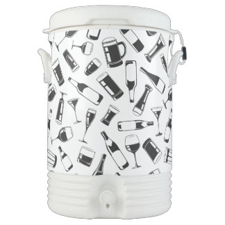 Black Pattern Drinks and Glasses Drinks Cooler