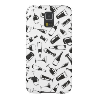 Black Pattern Drinks and Glasses Galaxy S5 Cover