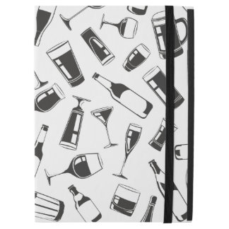 """Black Pattern Drinks and Glasses iPad Pro 12.9"""" Case"""