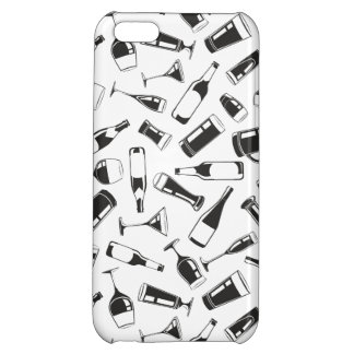 Black Pattern Drinks and Glasses iPhone 5C Cover