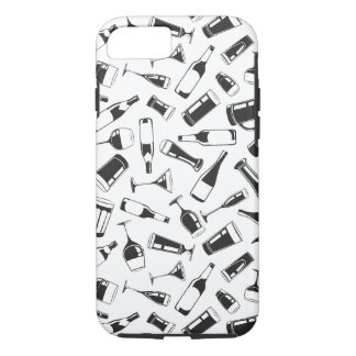 Black Pattern Drinks and Glasses iPhone 7 Case