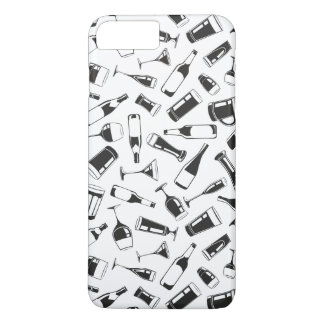 Black Pattern Drinks and Glasses iPhone 8 Plus/7 Plus Case