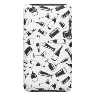 Black Pattern Drinks and Glasses iPod Case-Mate Cases