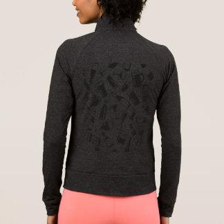 Black Pattern Drinks and Glasses Jacket
