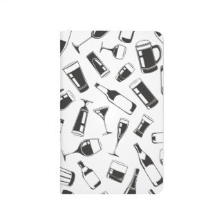 Black Pattern Drinks and Glasses Journal
