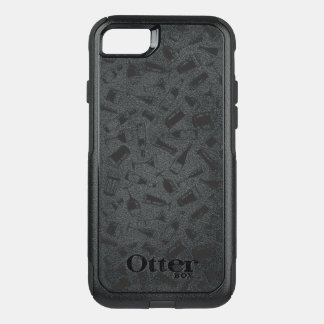Black Pattern Drinks and Glasses OtterBox Commuter iPhone 8/7 Case