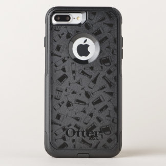 Black Pattern Drinks and Glasses OtterBox Commuter iPhone 8 Plus/7 Plus Case