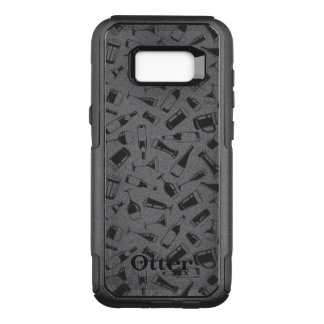 Black Pattern Drinks and Glasses OtterBox Commuter Samsung Galaxy S8+ Case