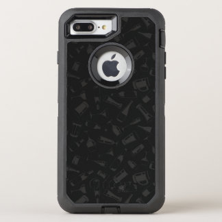 Black Pattern Drinks and Glasses OtterBox Defender iPhone 8 Plus/7 Plus Case