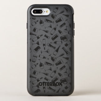 Black Pattern Drinks and Glasses OtterBox Symmetry iPhone 8 Plus/7 Plus Case