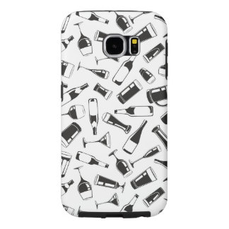 Black Pattern Drinks and Glasses Samsung Galaxy S6 Case