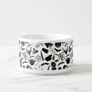 Black Pattern Hipster Bowl