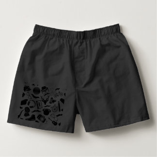Black Pattern Hipster Boxers