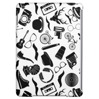 Black Pattern Hipster Cover For iPad Air