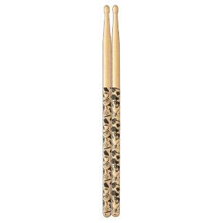 Black Pattern Hipster Drumsticks