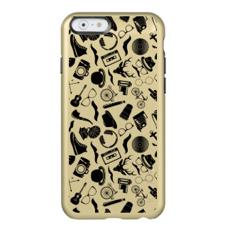 Black Pattern Hipster Incipio Feather® Shine iPhone 6 Case