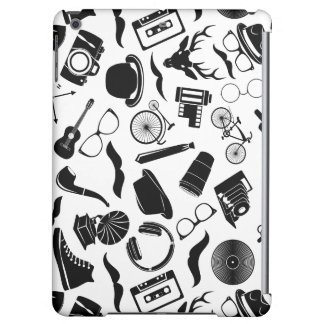 Black Pattern Hipster iPad Air Case
