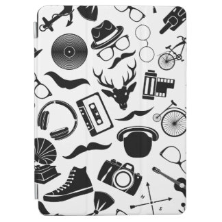 Black Pattern Hipster iPad Air Cover