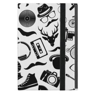 Black Pattern Hipster iPad Mini Case