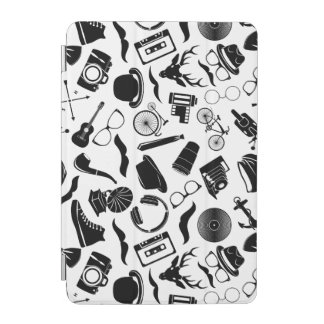 Black Pattern Hipster iPad Mini Cover