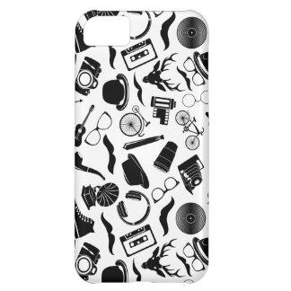 Black Pattern Hipster iPhone 5C Case