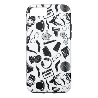 Black Pattern Hipster iPhone 8/7 Case