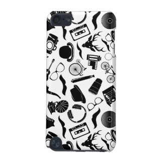 Black Pattern Hipster iPod Touch (5th Generation) Covers