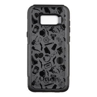 Black Pattern Hipster OtterBox Commuter Samsung Galaxy S8+ Case