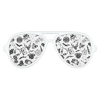 Black Pattern Hipster Party Shades