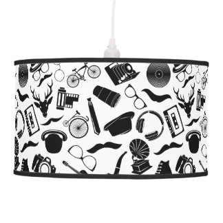 Black Pattern Hipster Pendant Lamp