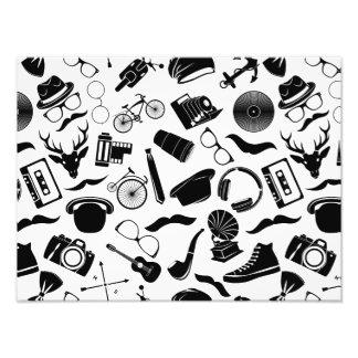 Black Pattern Hipster Photo