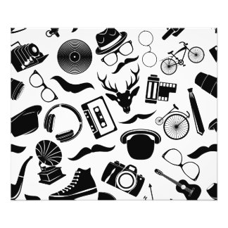 Black Pattern Hipster Photo Art