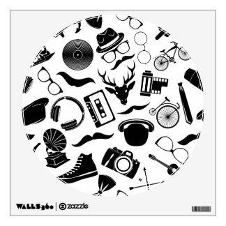 Black Pattern Hipster Wall Decal