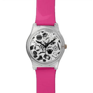 Black Pattern Hipster Watch