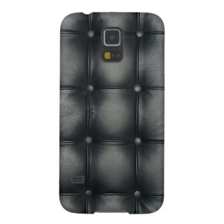 black pattern leather skin galaxy s5 covers