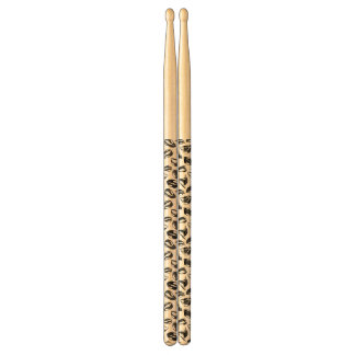 Black Pattern Lips Drumsticks
